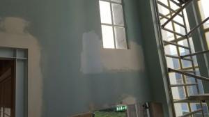 Muren staan klaar om te behangen